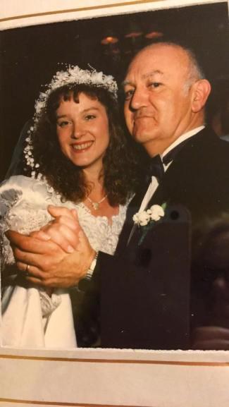gwen and dad wedding