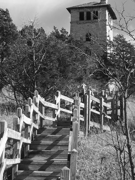 stairway bw