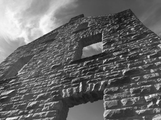 stone wall2 b&w